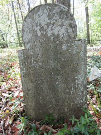 Charles McAnally's headstone