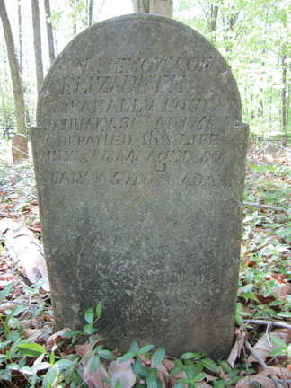 Elizabeth Morgan McAnally's headstone.